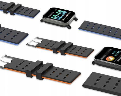 RONEBERG Smartwatch Smartband RA6 Pulsometr Ciśnieniomierz Oksymetr Powiadomienia Długi czas działania niebiesko-czarny                              zdj.                              10