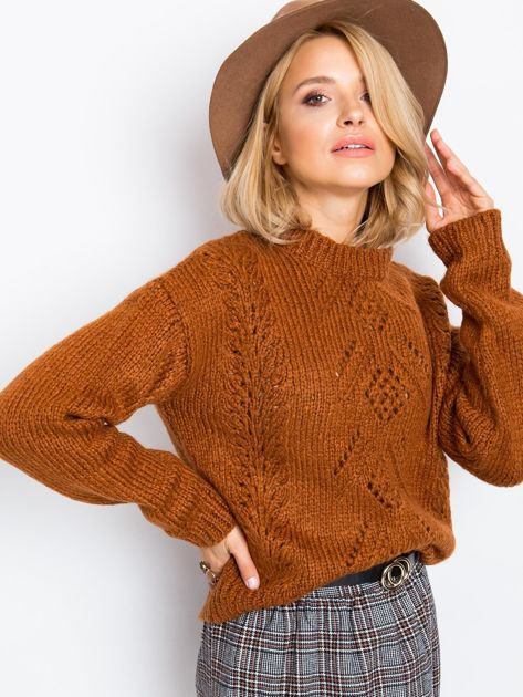 RUE PARIS Brązowy sweter Luca                              zdj.                              3