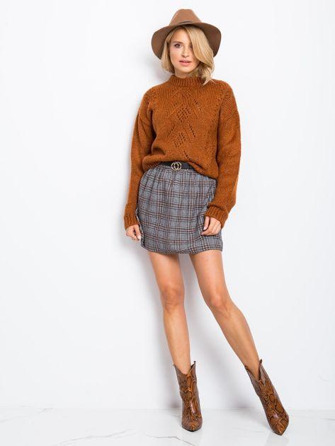 RUE PARIS Brązowy sweter Luca                              zdj.                              4