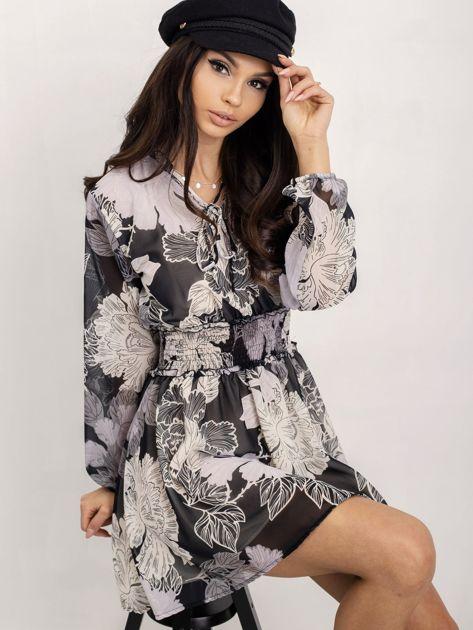 RUE PARIS Czarno-biała sukienka Riva                              zdj.                              5