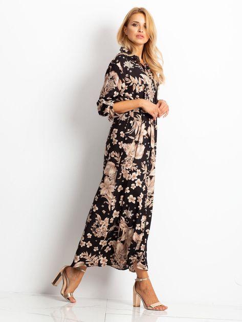 RUE PARIS Czarno-brązowa sukienka Temple                              zdj.                              3