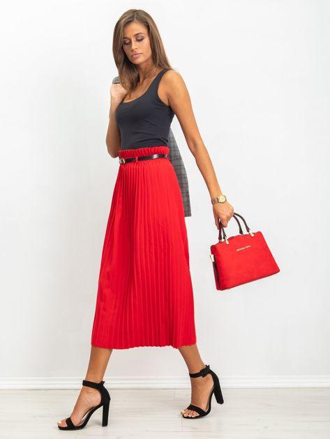 RUE PARIS Czerwona spódnica Tammy                              zdj.                              3