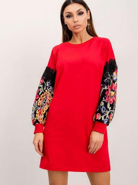 RUE PARIS Czerwona sukienka Neffy