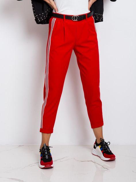 RUE PARIS Czerwone spodnie Orinoco                              zdj.                              5