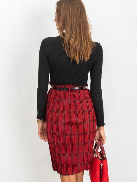RUE PARIS Czerwono-czarna spódnica Diaz                              zdj.                              2