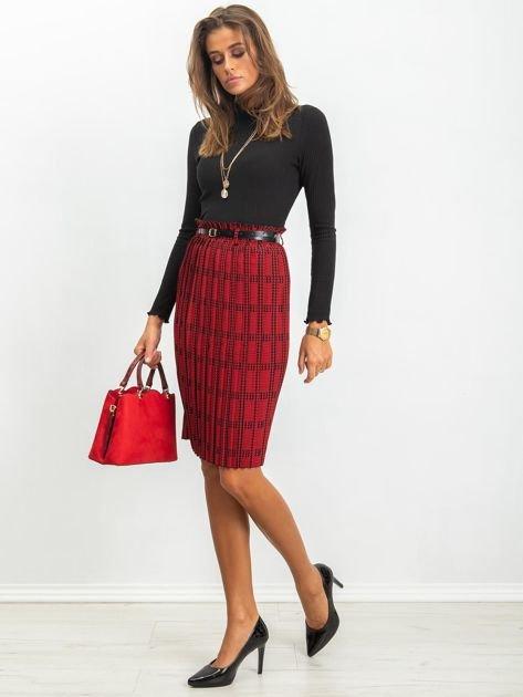 RUE PARIS Czerwono-czarna spódnica Diaz                              zdj.                              4