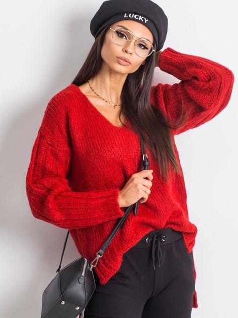 RUE PARIS Czerwony sweter Gift                              zdj.                              1