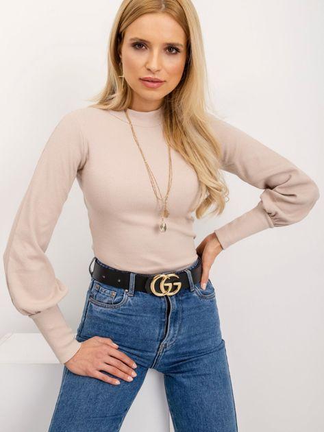 RUE PARIS Jasnokawowa bluzka Lauren