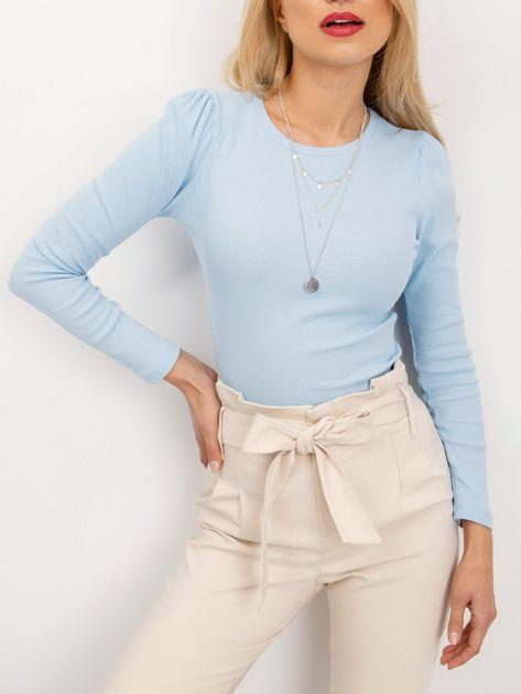 RUE PARIS Jasnoniebieska bluzka Skip