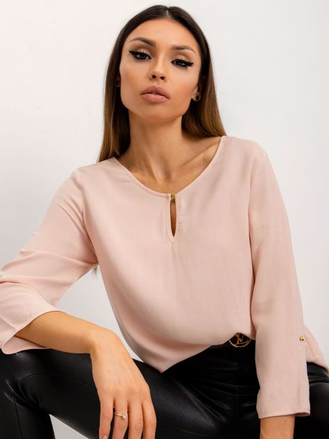 RUE PARIS Jasnoróżowa bluzka Gina