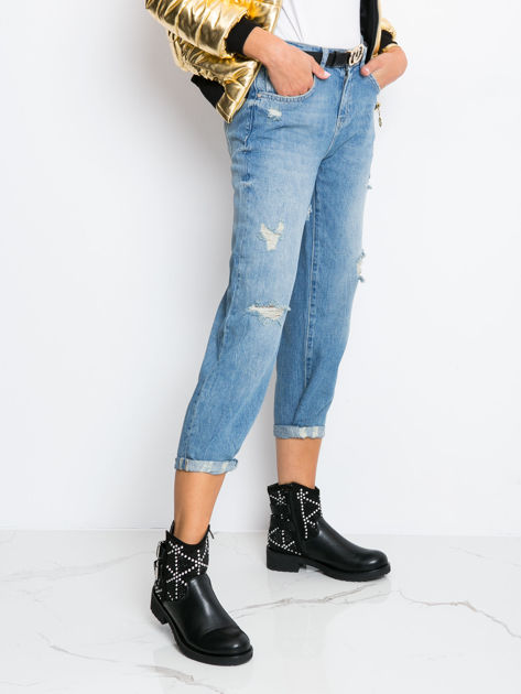 RUE PARIS Niebieskie jeansy Georgina                               zdj.                              3