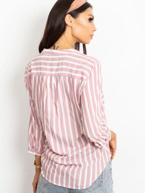 RUE PARIS Różowo-biała bluzka Sienna                              zdj.                              2