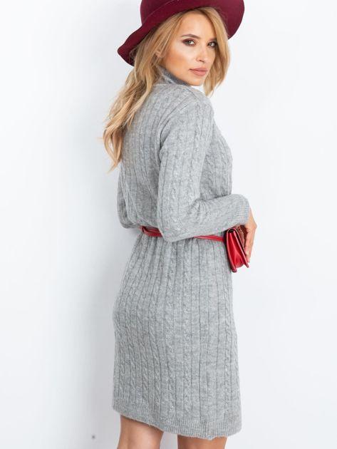 RUE PARIS Szara sukienka Evermore                              zdj.                              3