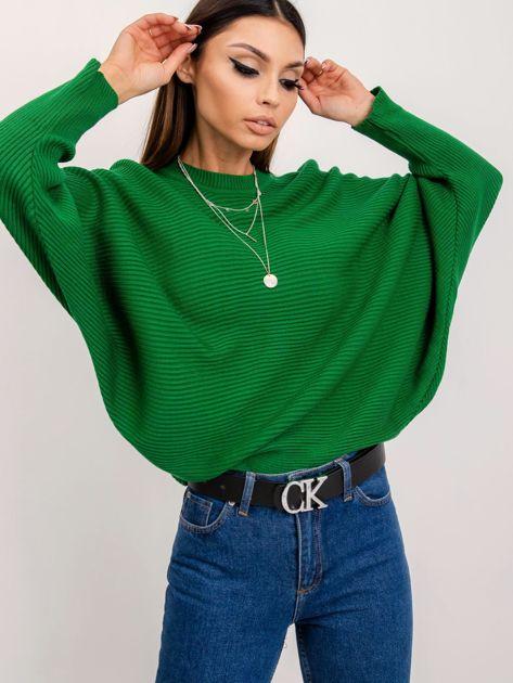RUE PARIS Zielony sweter Pose