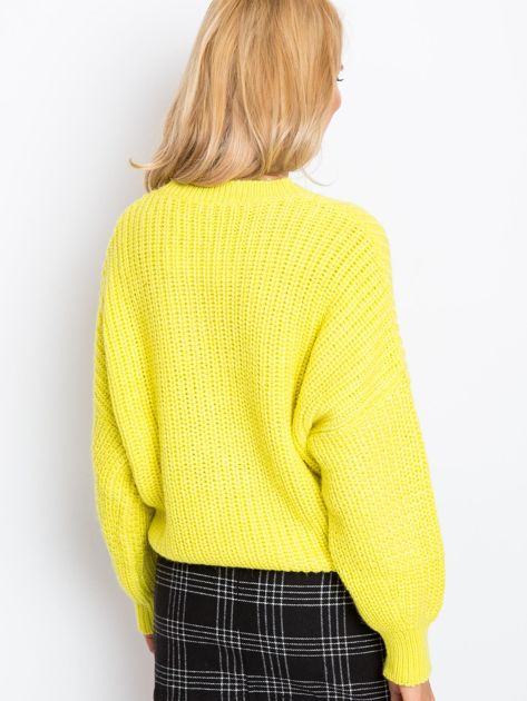 RUE PARIS Żółty sweter Zoe                              zdj.                              2