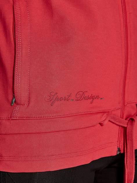 Różowa bluza sportowa fitness z wiązaniem                                  zdj.                                  5