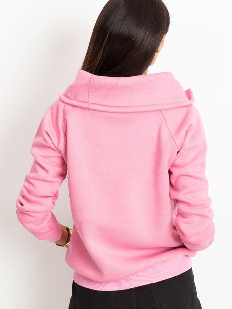 Różowa bluza z miękkim kołnierzem                              zdj.                              3