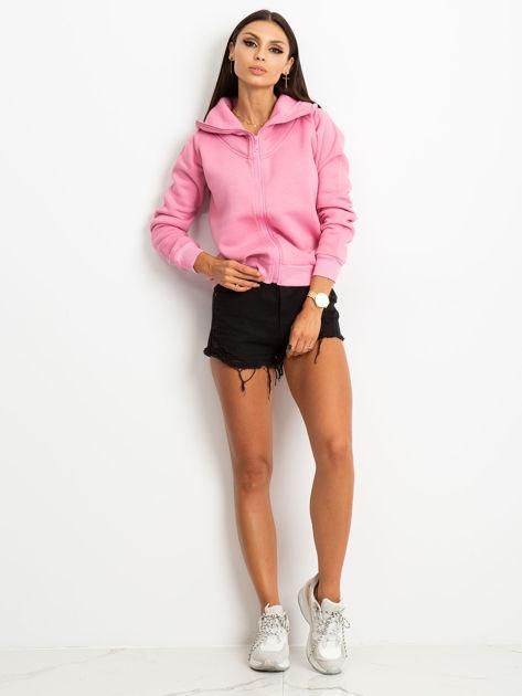 Różowa bluza z miękkim kołnierzem                              zdj.                              4
