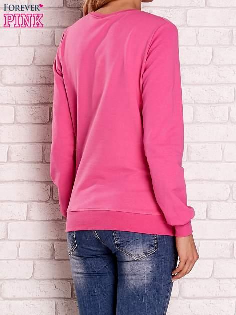 Różowa bluza z nadrukiem łapacza snów                                  zdj.                                  4