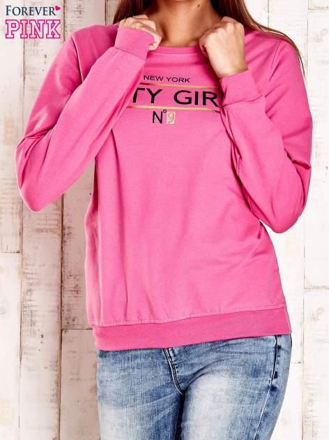 Różowa bluza z napisem CITY GIRL                                  zdj.                                  1