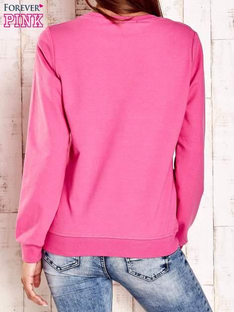Różowa bluza z napisem CITY GIRL                                  zdj.                                  2