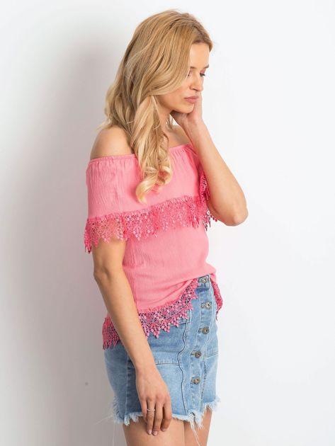 Różowa bluzka Having                              zdj.                              3