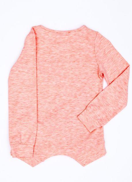 eb1ffff8ee Różowa bluzka dla dziewczynki z geometrycznym nadrukiem i cekinami -  Dziecko Dziewczynka - sklep eButik.pl