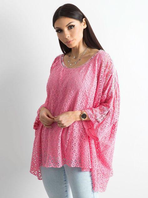 Różowa bluzka ponczo                              zdj.                              3