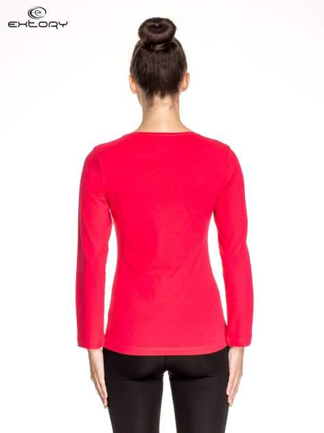 Różowa bluzka sportowa basic PLUS SIZE                                  zdj.                                  4