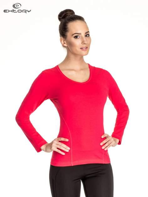 Różowa bluzka sportowa basic PLUS SIZE                                  zdj.                                  1