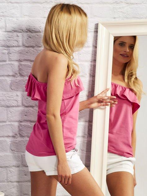 Różowa bluzka z falbaną                                  zdj.                                  5