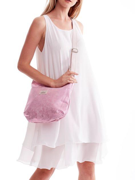 Różowa brokatowa torba na ramię