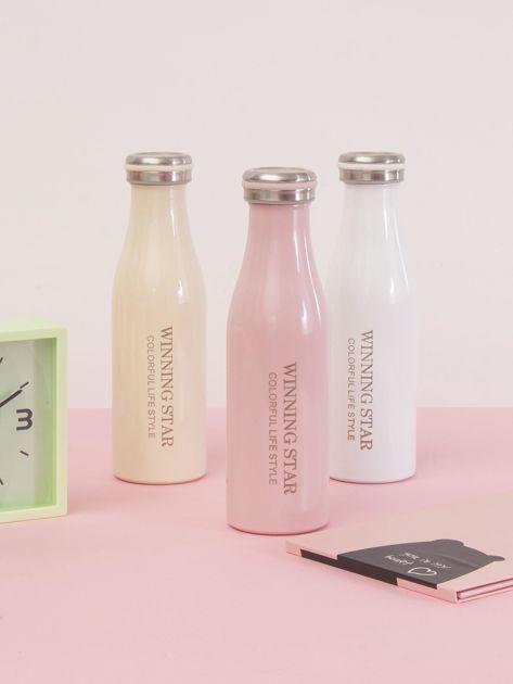 Różowa butelka termos z zakrętką                               zdj.                              6