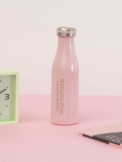 Różowa butelka termos z zakrętką                               zdj.                              7