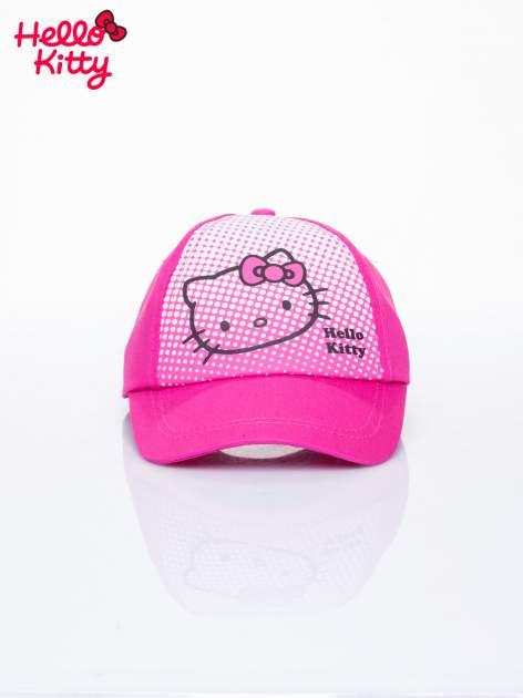 Różowa czapka z daszkiem dla dziewczynki HELLO KITTY                                  zdj.                                  1