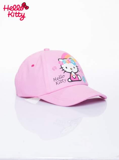 Różowa czapka z daszkiem dla dziewczynki motyw HELLO KITTY                                  zdj.                                  2