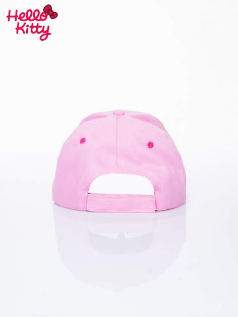 Różowa czapka z daszkiem dla dziewczynki motyw HELLO KITTY                                  zdj.                                  3