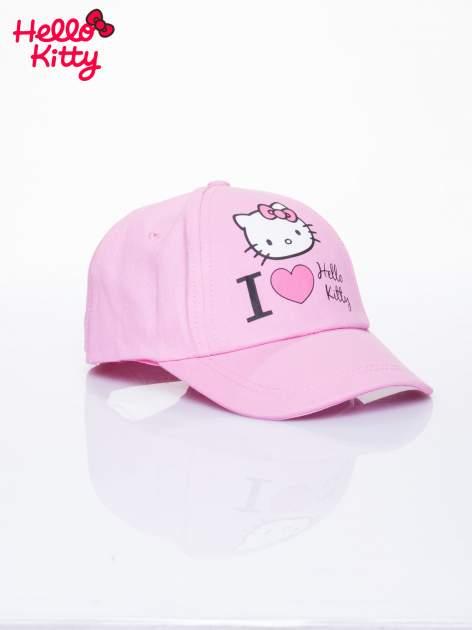 Różowa czapka z daszkiem dla dziewczynki z motywem HELLO KITTY                                  zdj.                                  2