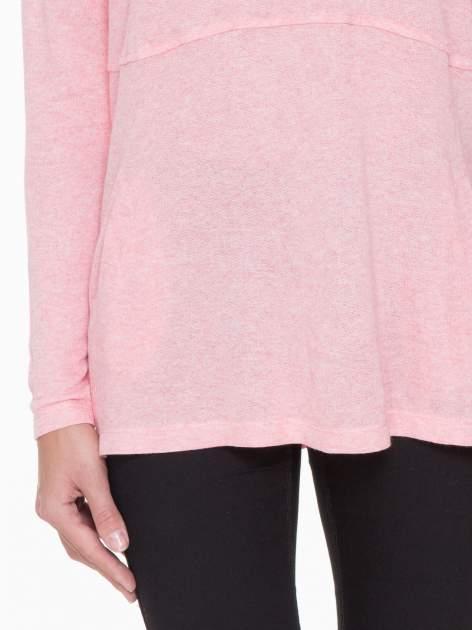 Różowa dresowa bluza oversize z kieszeniami                                  zdj.                                  8