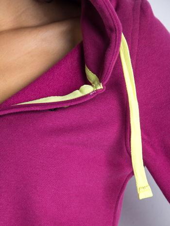 Różowa dresowa bluza sportowa z kapturem                                  zdj.                                  7