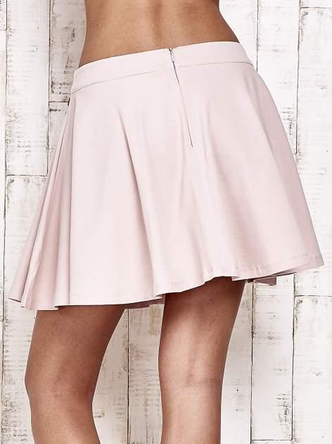 Różowa dresowa spódnica szyta z koła                                  zdj.                                  6