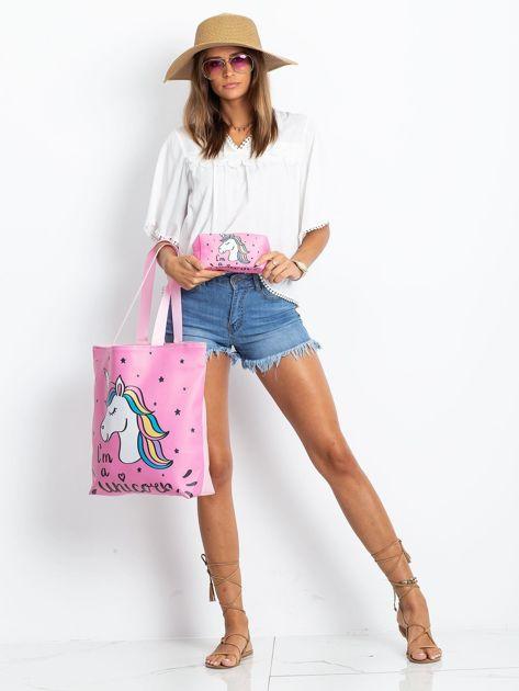 Różowa duża torba z jednorożcem                              zdj.                              8