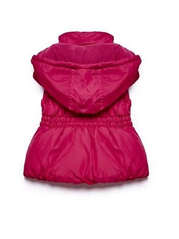 Różowa kamizelka dla dziewczynki pikowana
