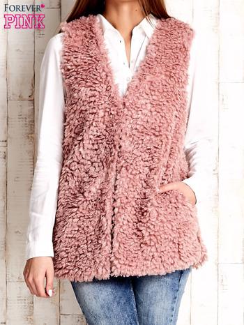 Różowa kamizelka fluffy