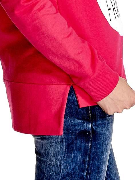 Rózowa klasyczna bluza damska z napisem AVENUE MONTAIGNE                                  zdj.                                  6