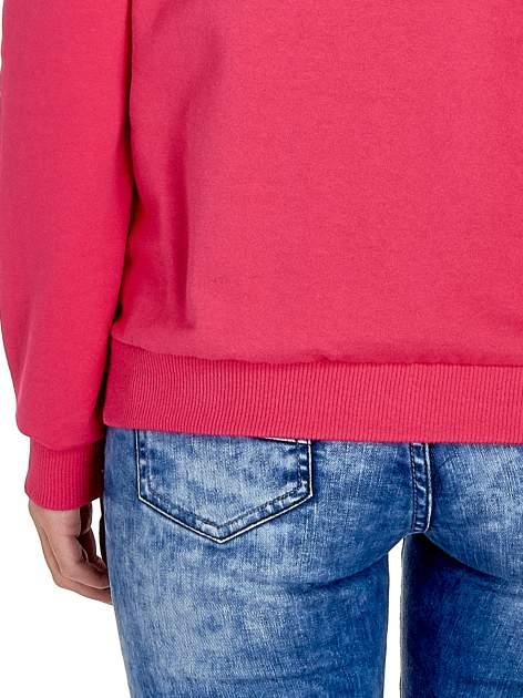 Różowa klasyczna bluza damska z napisem IN LIFE SIMPLE IS BEST                                  zdj.                                  7