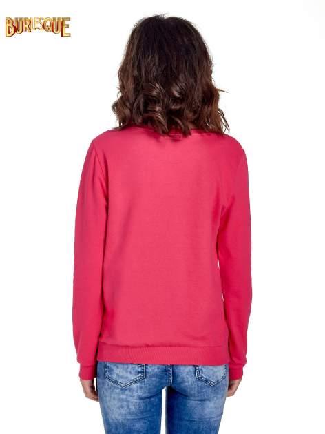 Różowa klasyczna bluza damska z napisem IN LIFE SIMPLE IS BEST                                  zdj.                                  4