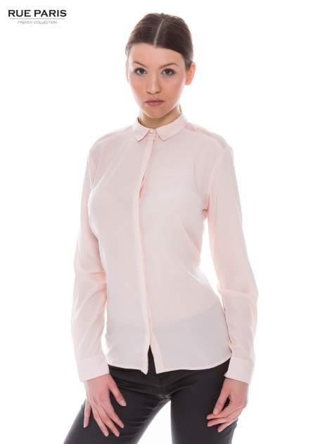 Różowa koszula z siateczkowym tyłem                                  zdj.                                  1