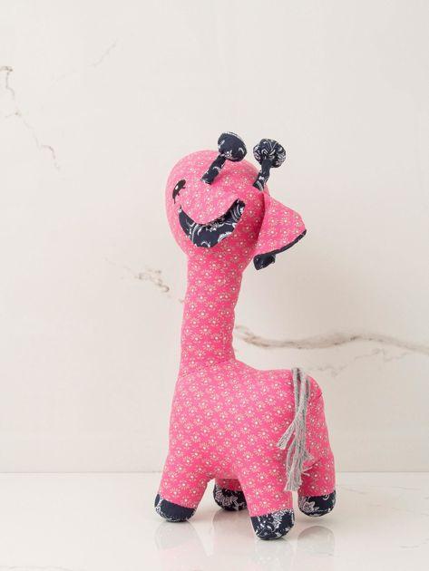 Różowa maskotka dziecięca Żyrafka                              zdj.                              2
