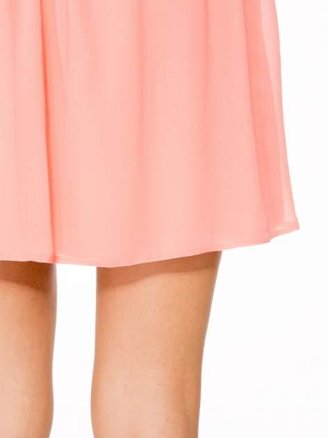 Różowa mini spódnica zapinana z przodu  na rząd guzików                                  zdj.                                  7